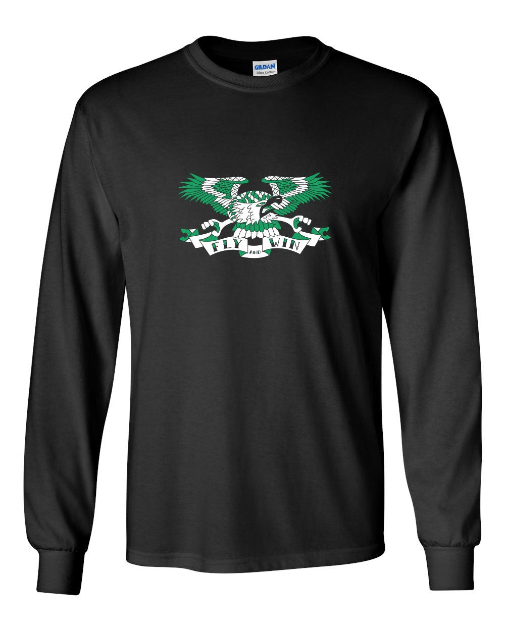 Fly and Win MENS Long Sleeve Heavy Cotton T-Shirt