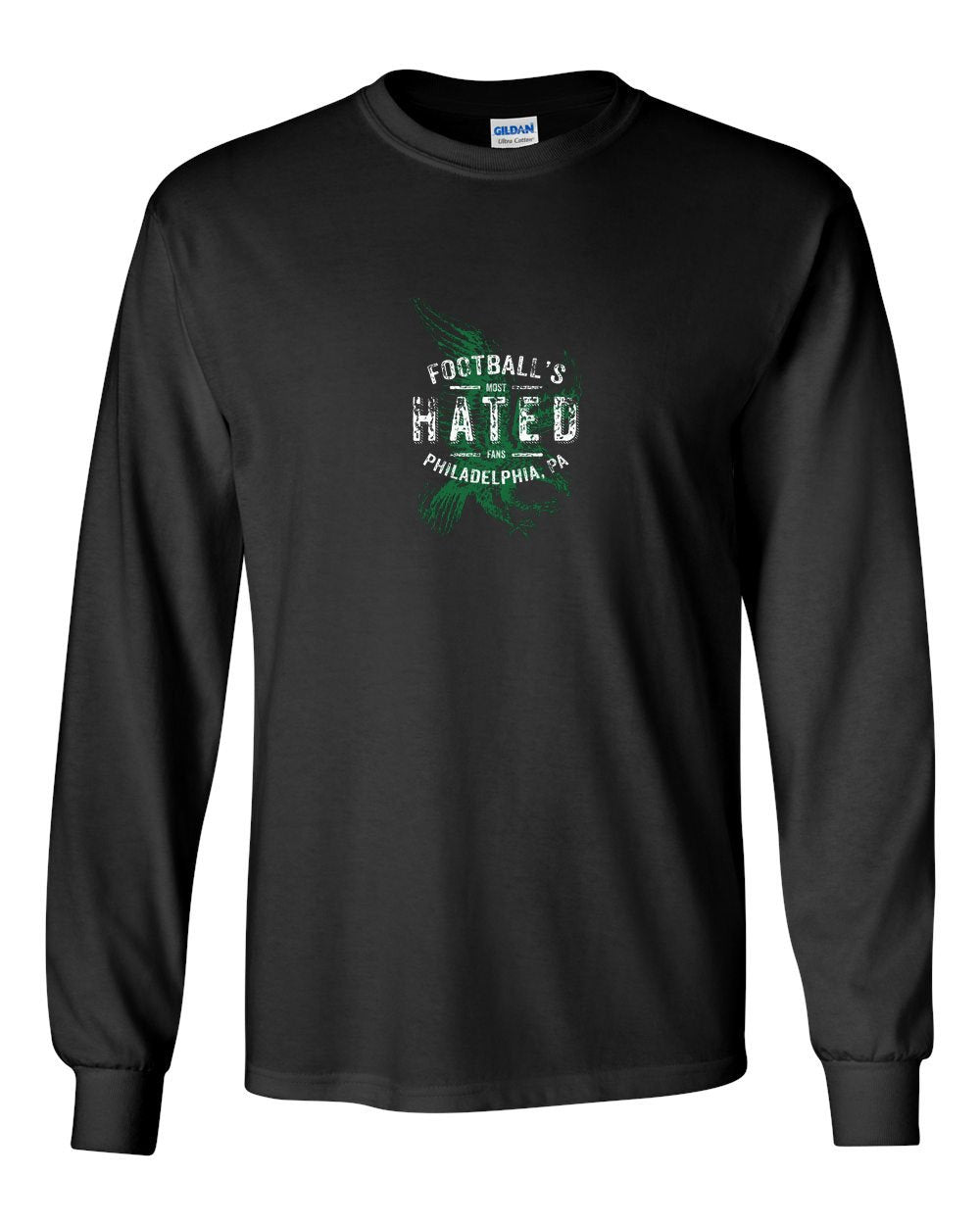 Most Hated Fans MENS Long Sleeve Heavy Cotton T-Shirt