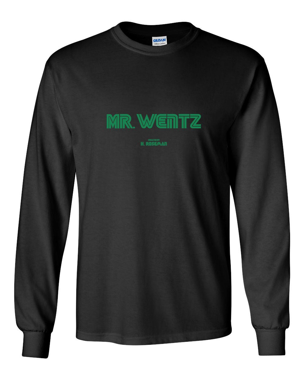 Mr Wentz Green Ink MENS Long Sleeve Heavy Cotton T-Shirt