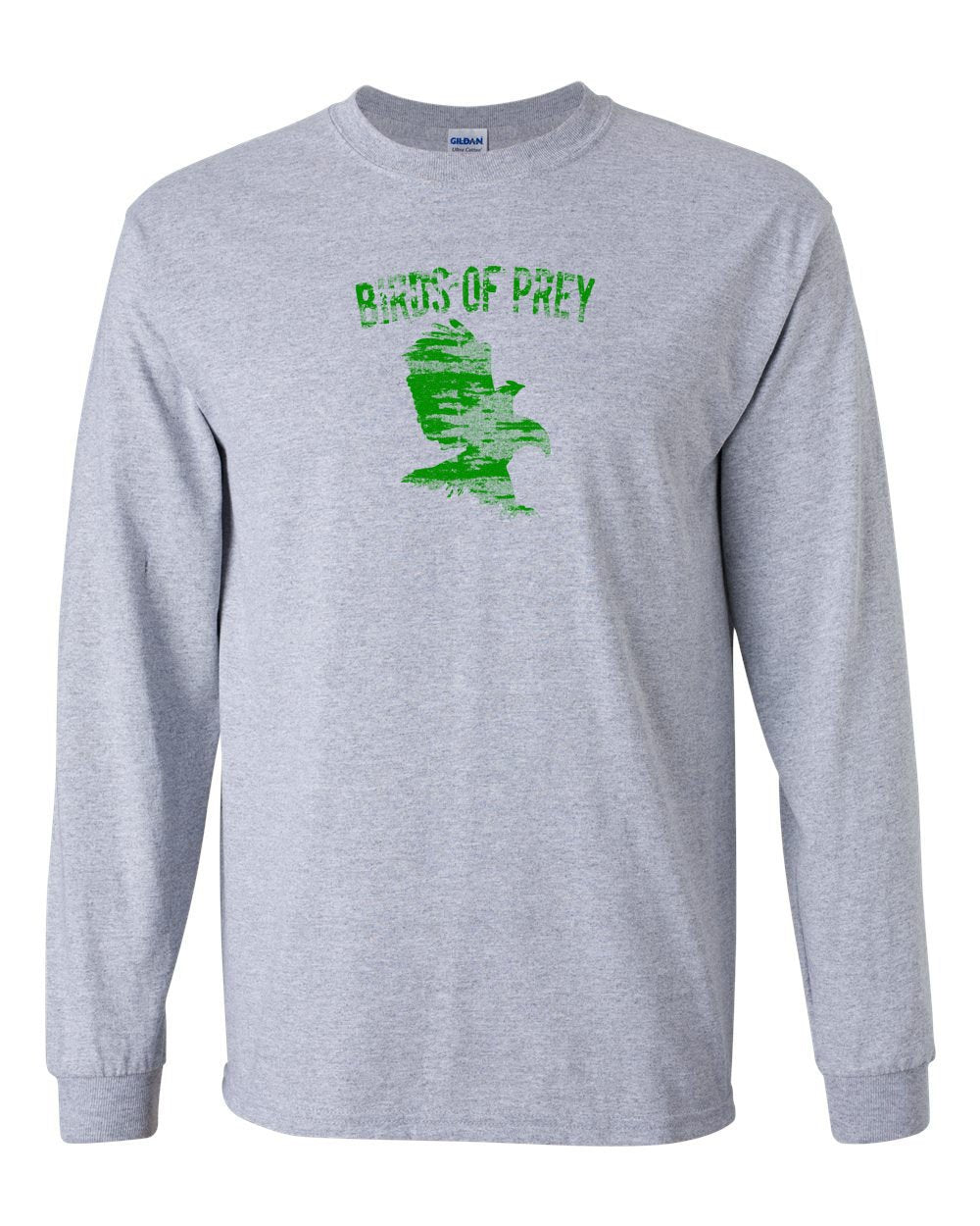 Birds of Prey MENS Long Sleeve Heavy Cotton T-Shirt