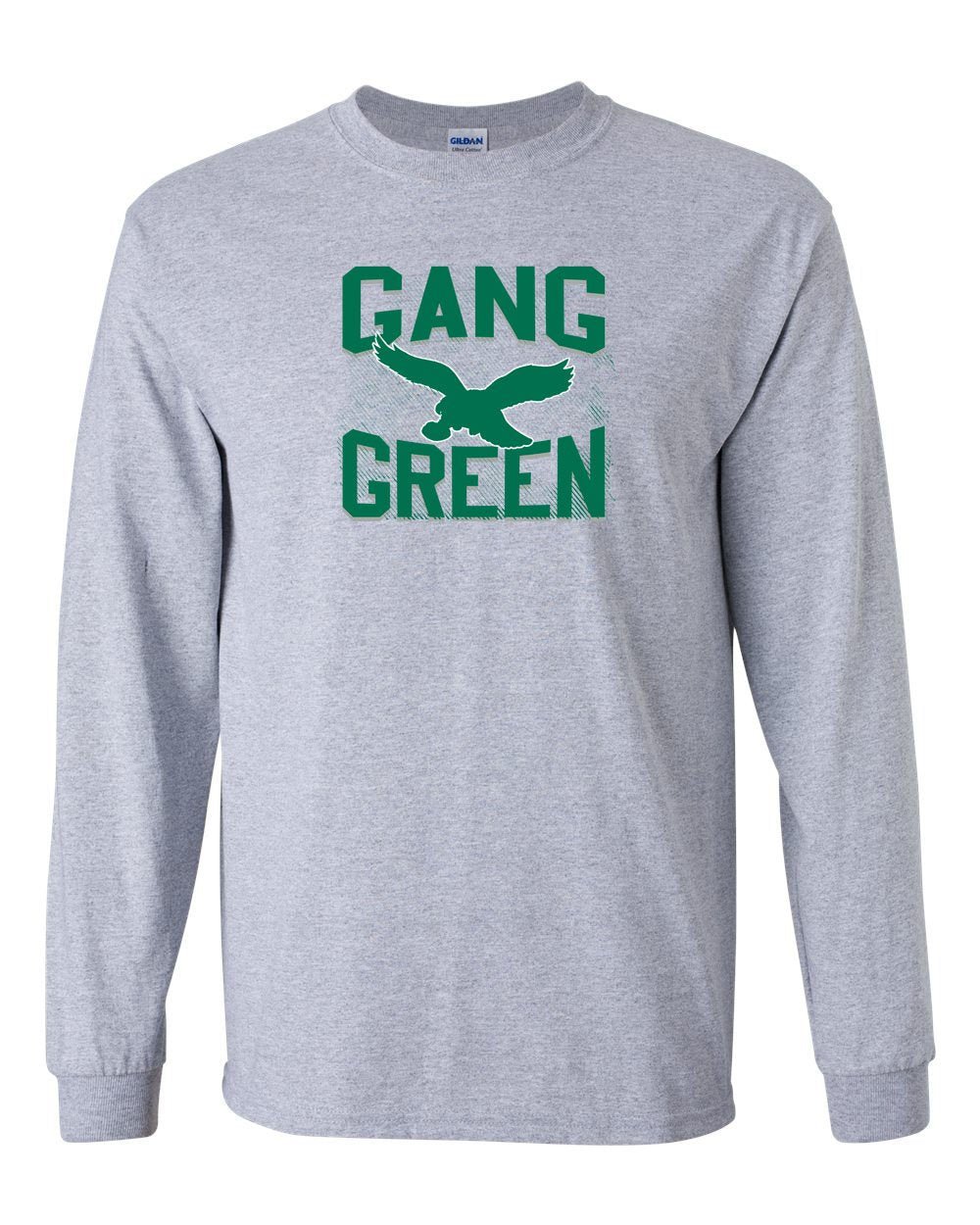 Gang Green MENS Long Sleeve Heavy Cotton T-Shirt