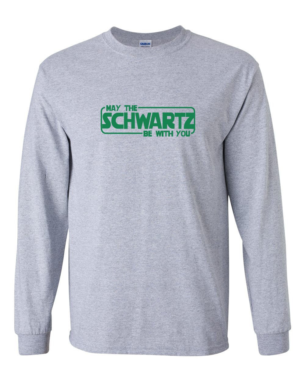 May The Schwartz Be With You MENS Long Sleeve Heavy Cotton T-Shirt