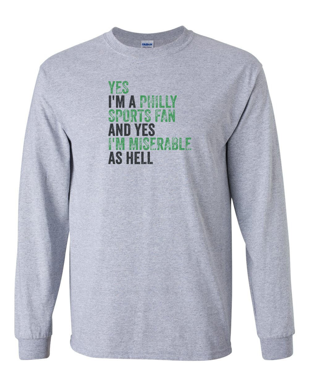 Philly Sports Fan Football MENS Long Sleeve Heavy Cotton T-Shirt