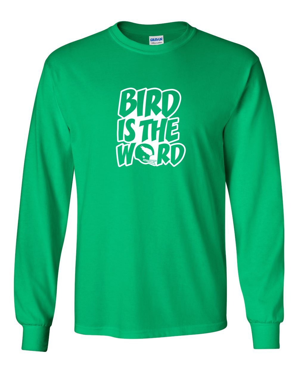 Bird is the Word MENS Long Sleeve Heavy Cotton T-Shirt
