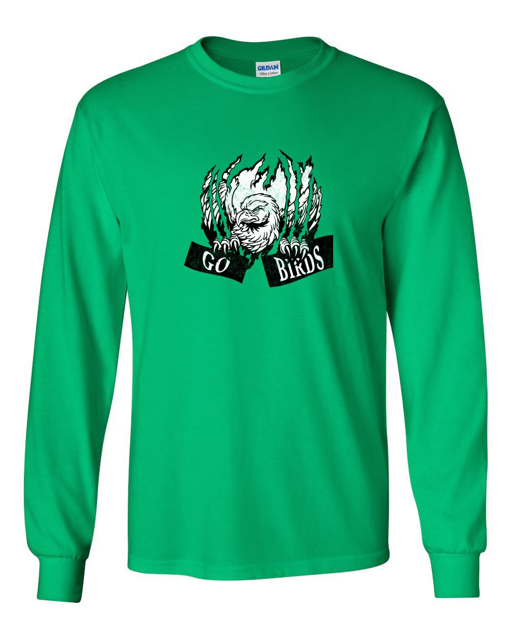 Go Birds Claw MENS Long Sleeve Heavy Cotton T-Shirt