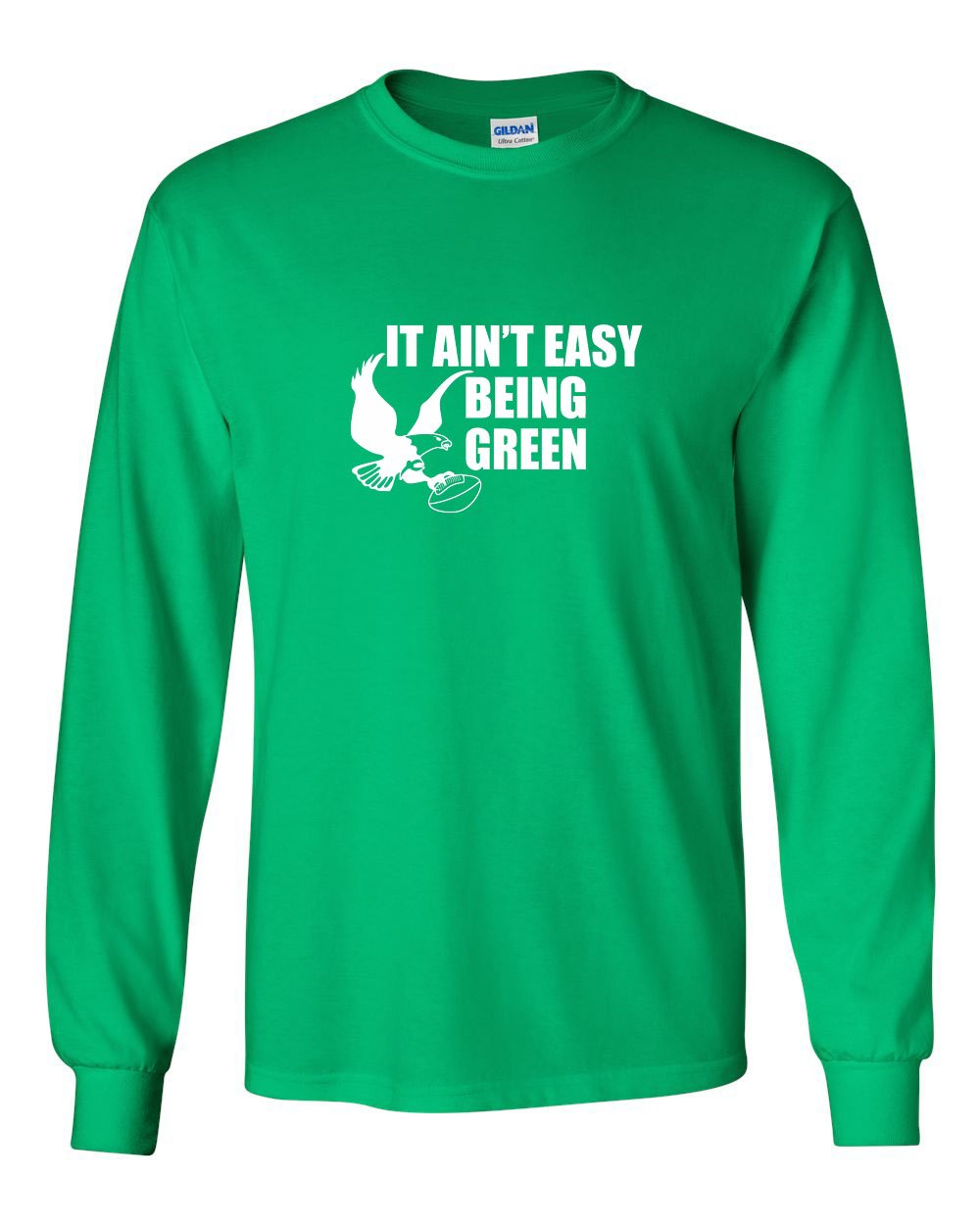 It Ain't Easy Being Green MENS Long Sleeve Heavy Cotton T-Shirt