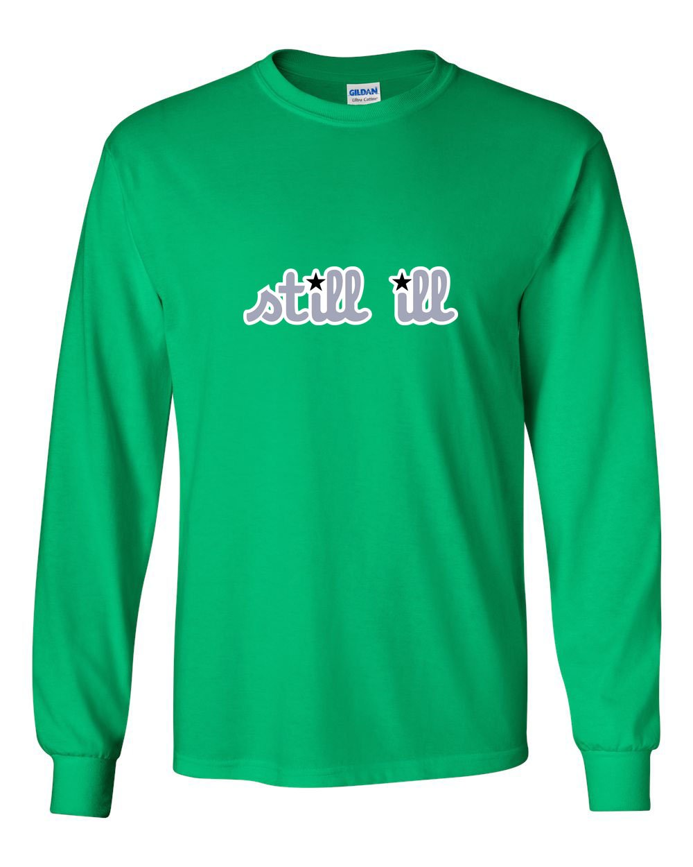 Still Ill Football MENS Long Sleeve Heavy Cotton T-Shirt