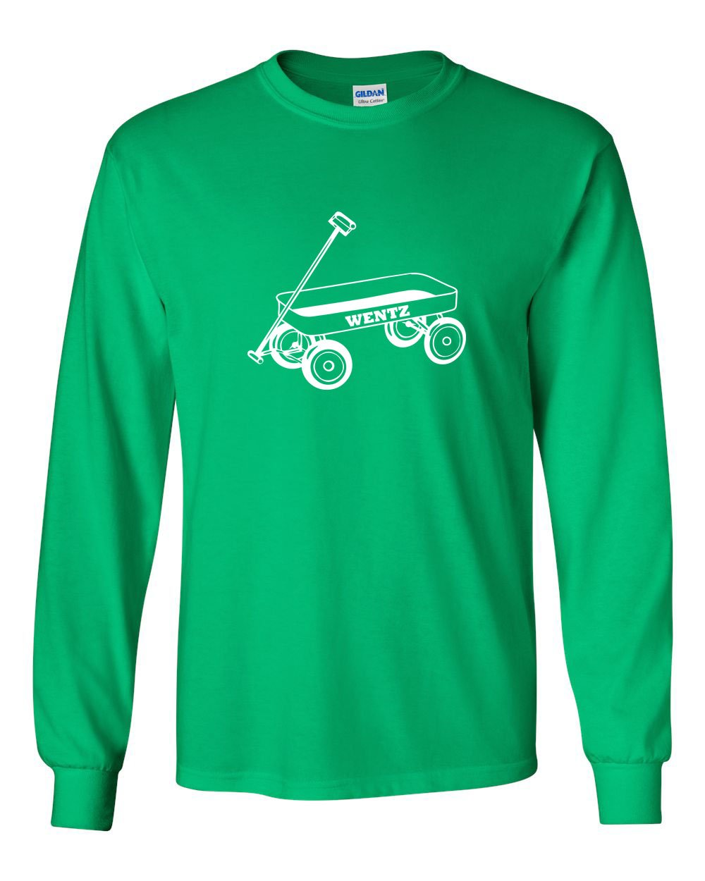 Wentz Wagon White Ink MENS Long Sleeve Heavy Cotton T-Shirt