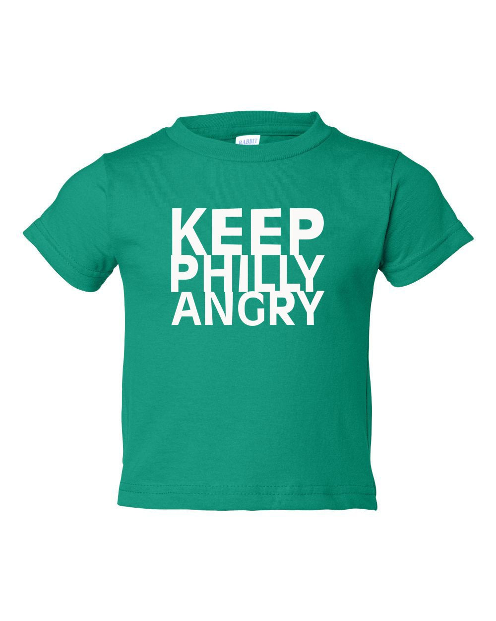 Keep Philly Angry White Ink TODDLER T-Shirt