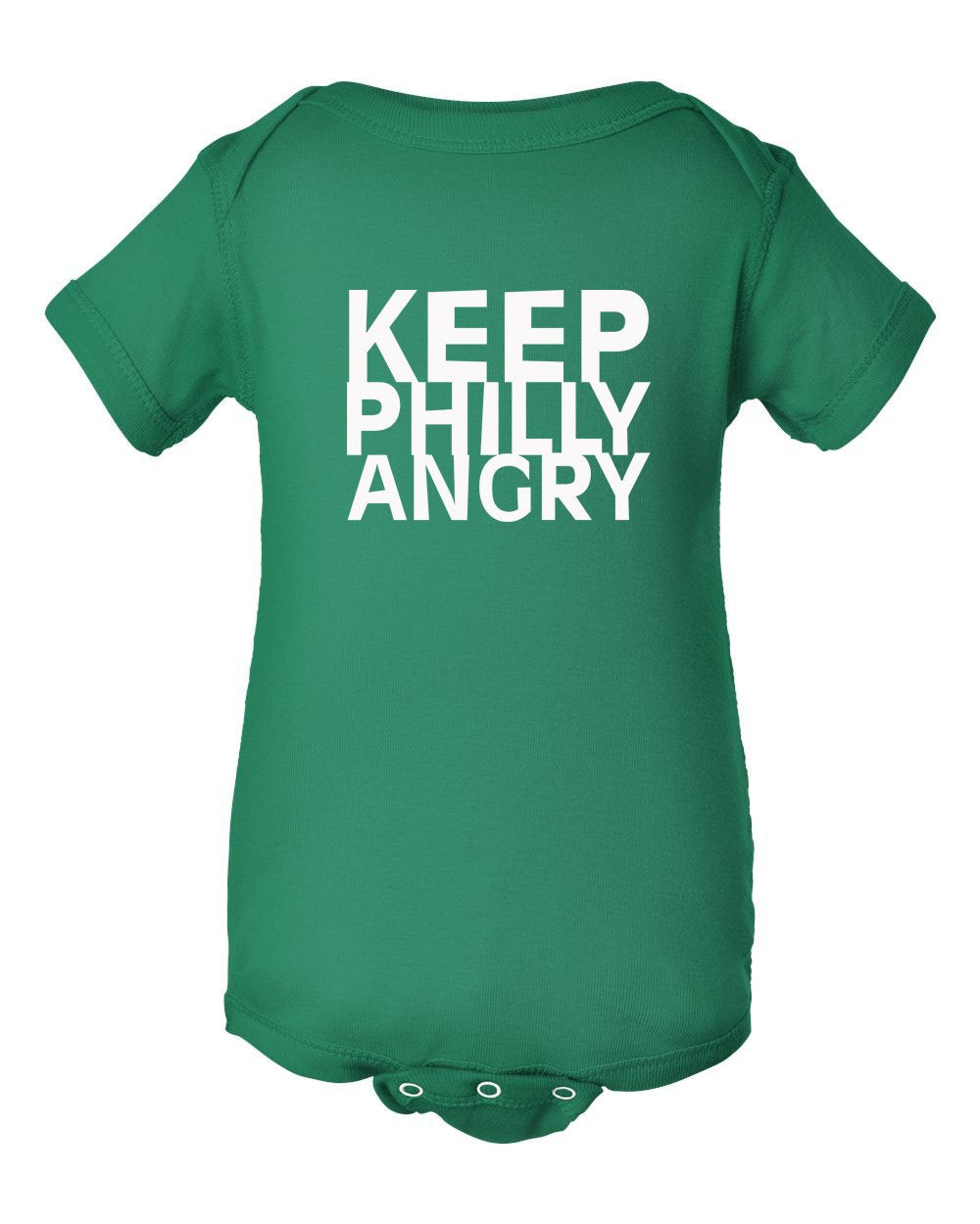 Keep Philly Angry White Ink INFANT Onesie