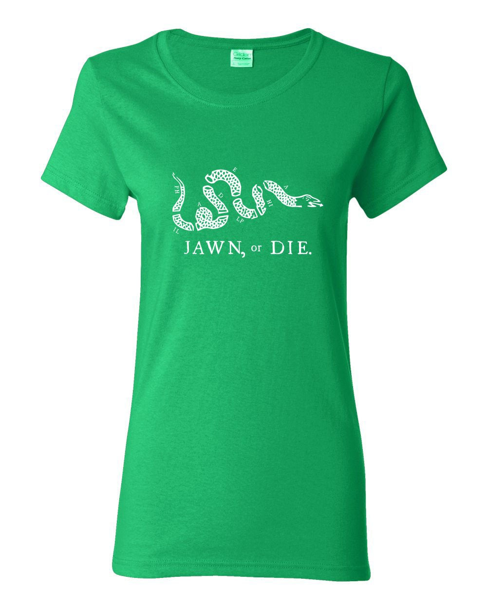 Jawn or Die White Ink LADIES Missy-Fit T-Shirt