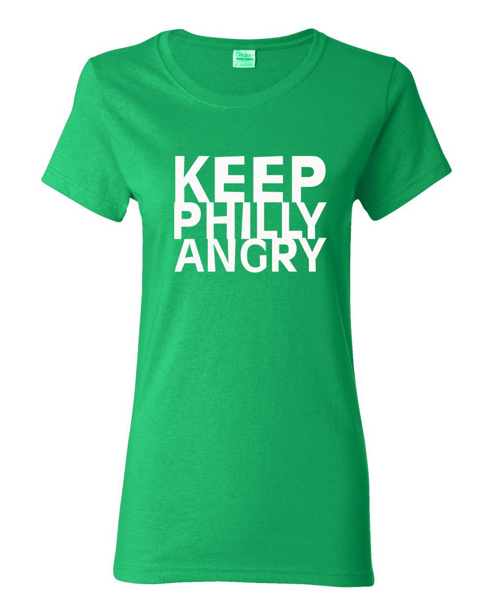 Keep Philly Angry White Ink LADIES Missy-Fit T-Shirt