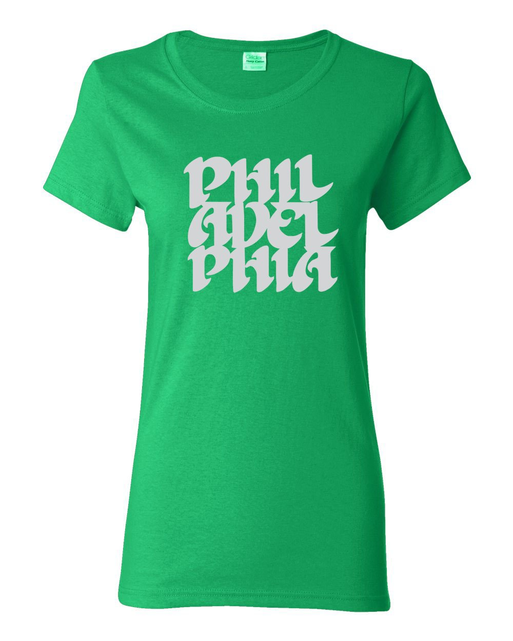 Vintage Philly Font LADIES Missy-Fit T-Shirt