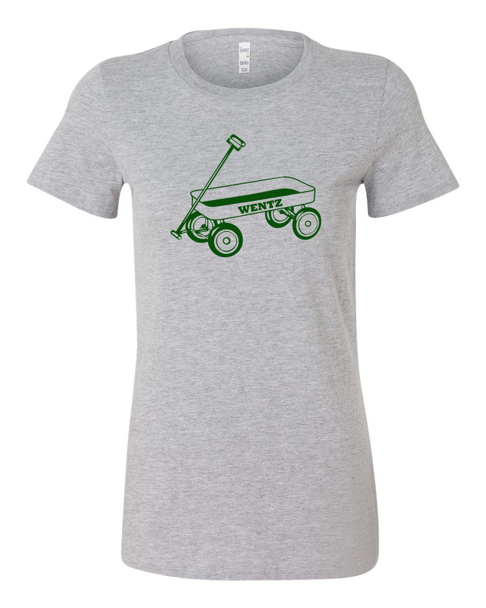 Wentz Wagon Green Ink LADIES Junior-Fit T-Shirt