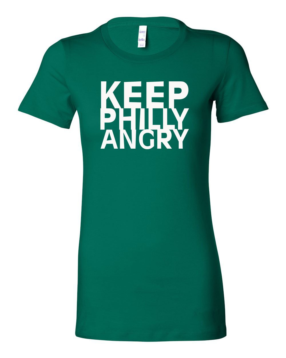 Keep Philly Angry White Ink LADIES Junior-Fit T-Shirt