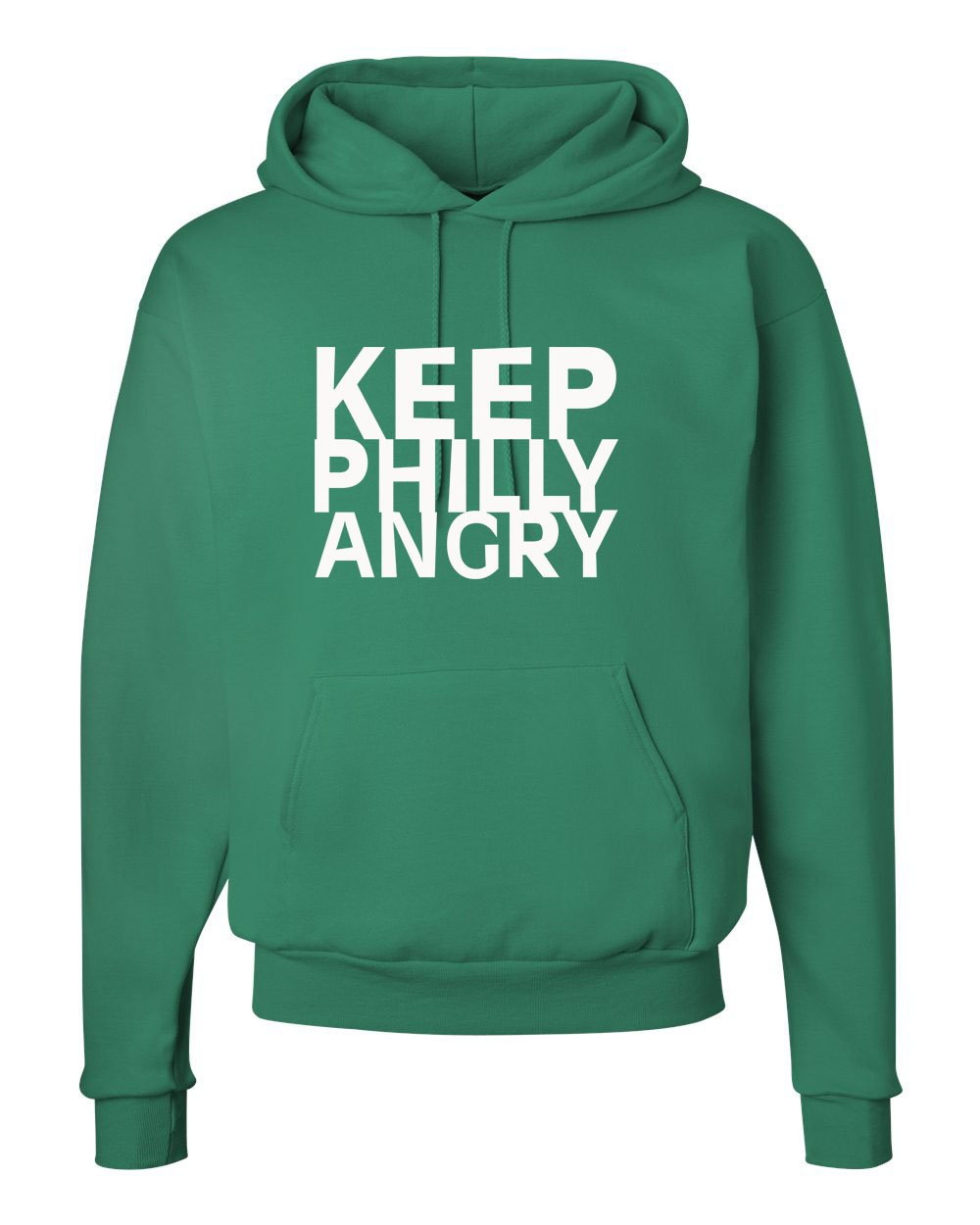 Keep Philly Angry White Ink Hoodie