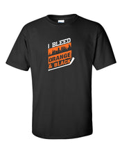 I Bleed Orange and Black Mens/Unisex T-Shirt