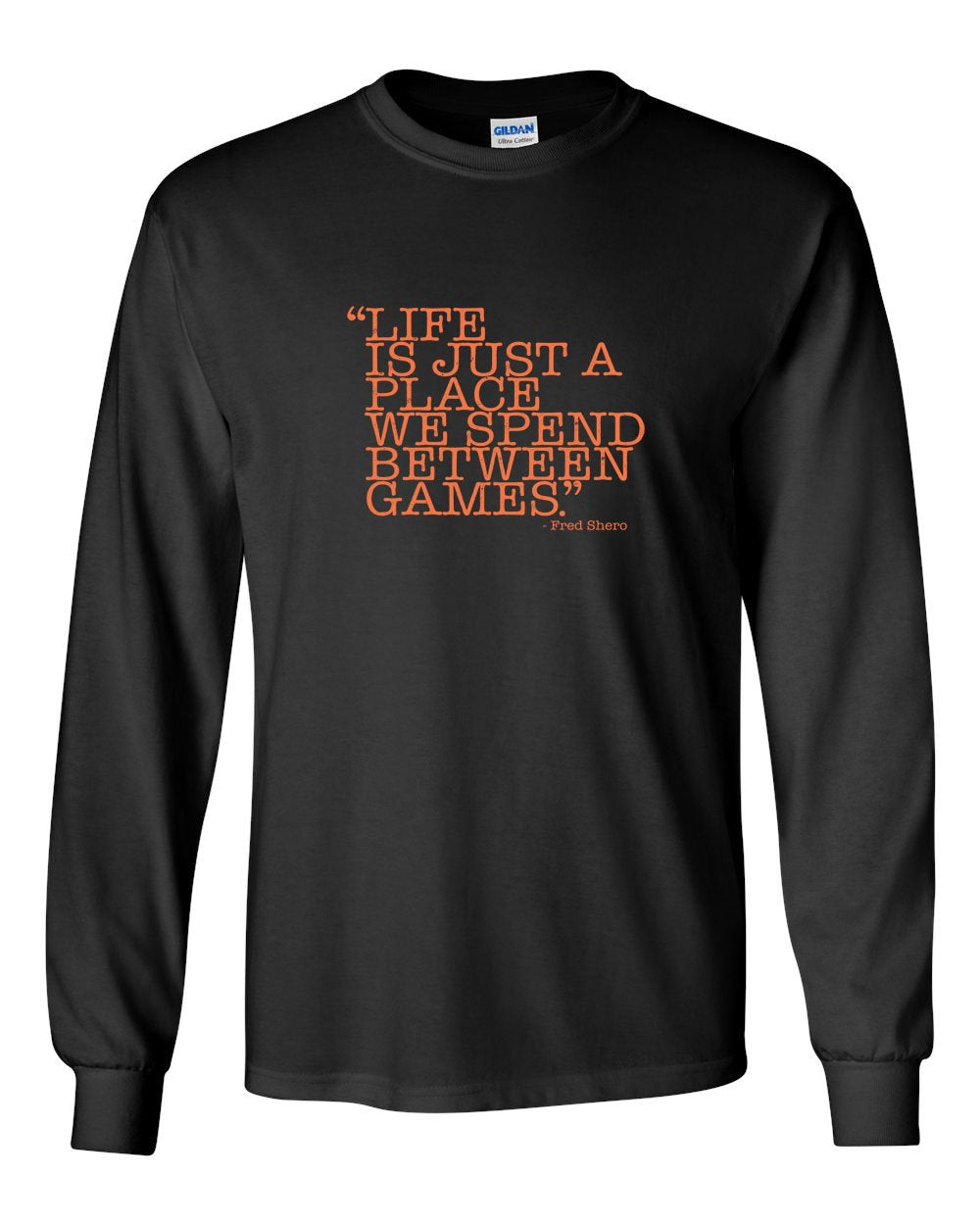Between Games MENS Long Sleeve Heavy Cotton T-Shirt