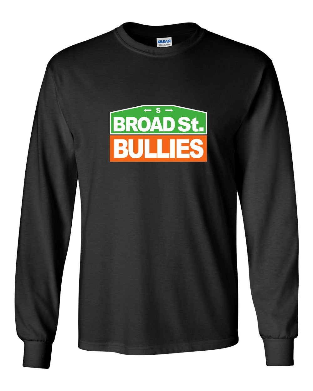 Broad Street Bullies Sign MENS Long Sleeve Heavy Cotton T-Shirt