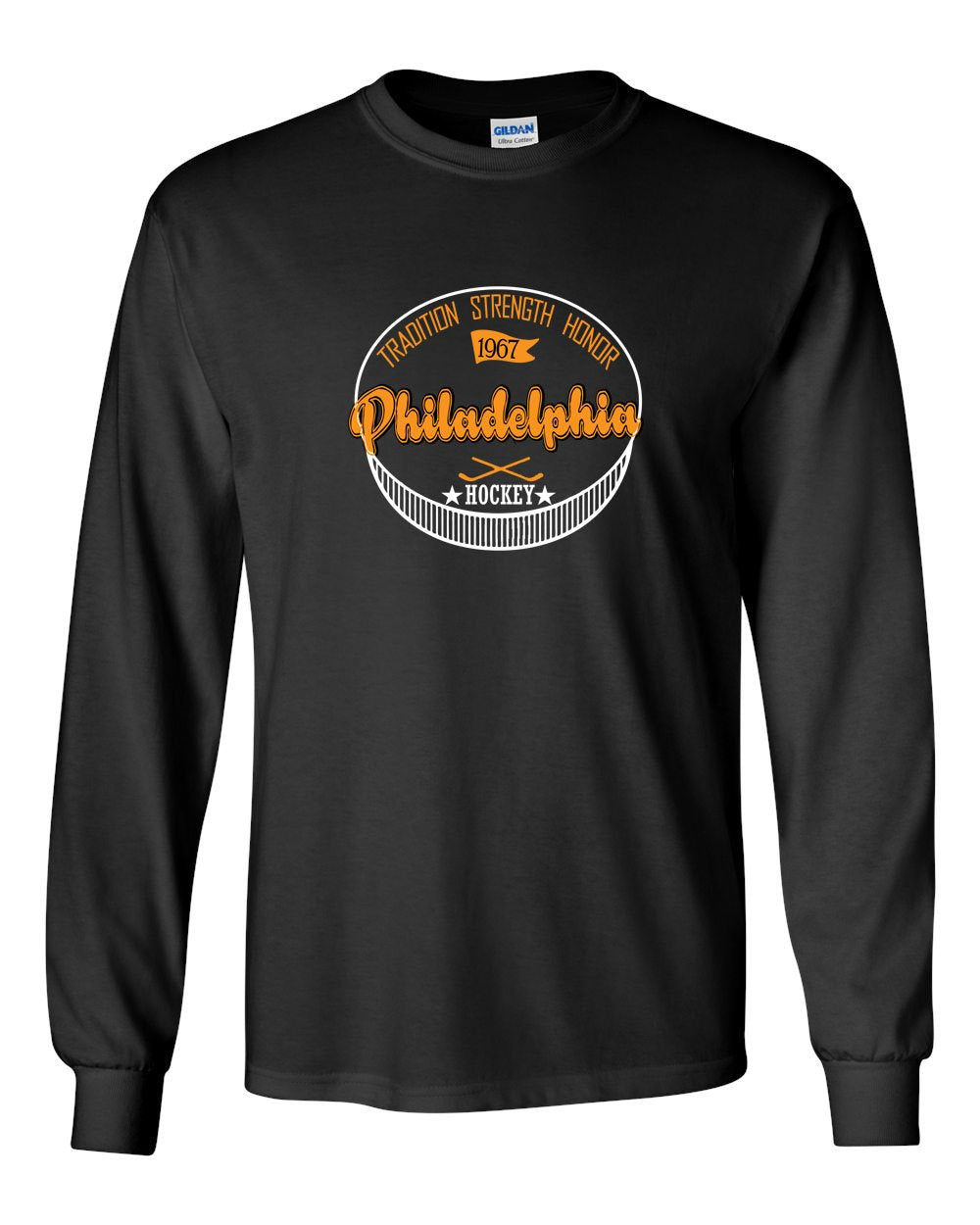 Philadelphia Puck MENS Long Sleeve Heavy Cotton T-Shirt