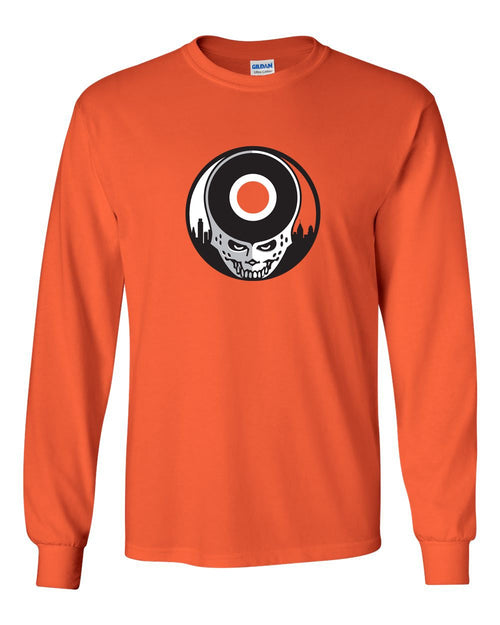 Hockey Stealie MENS Long Sleeve Heavy Cotton T-Shirt