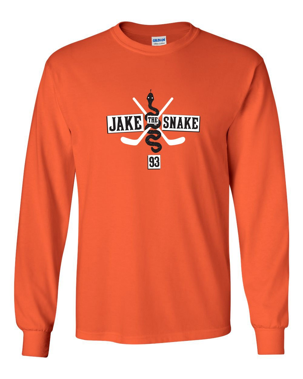 Jake The Snake MENS Long Sleeve Heavy Cotton T-Shirt