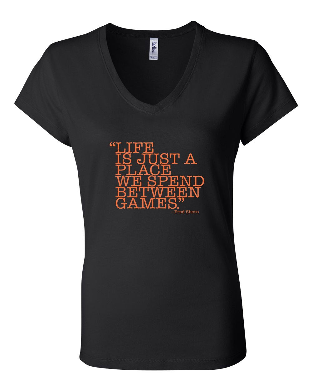 Between Games LADIES Junior Fit V-Neck