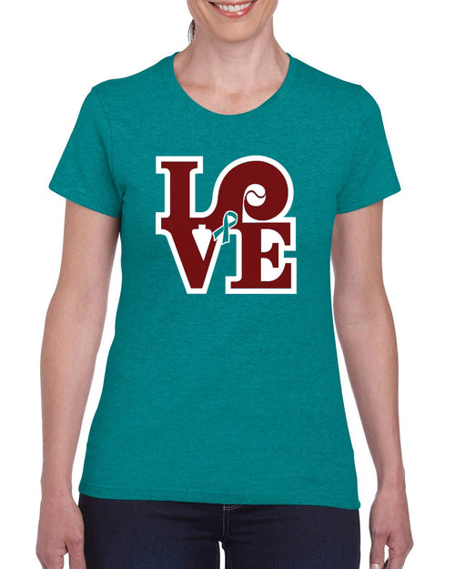 Love Baseball Ladies S/S (Sandy Rollman Ovarian Cancer Foundation)