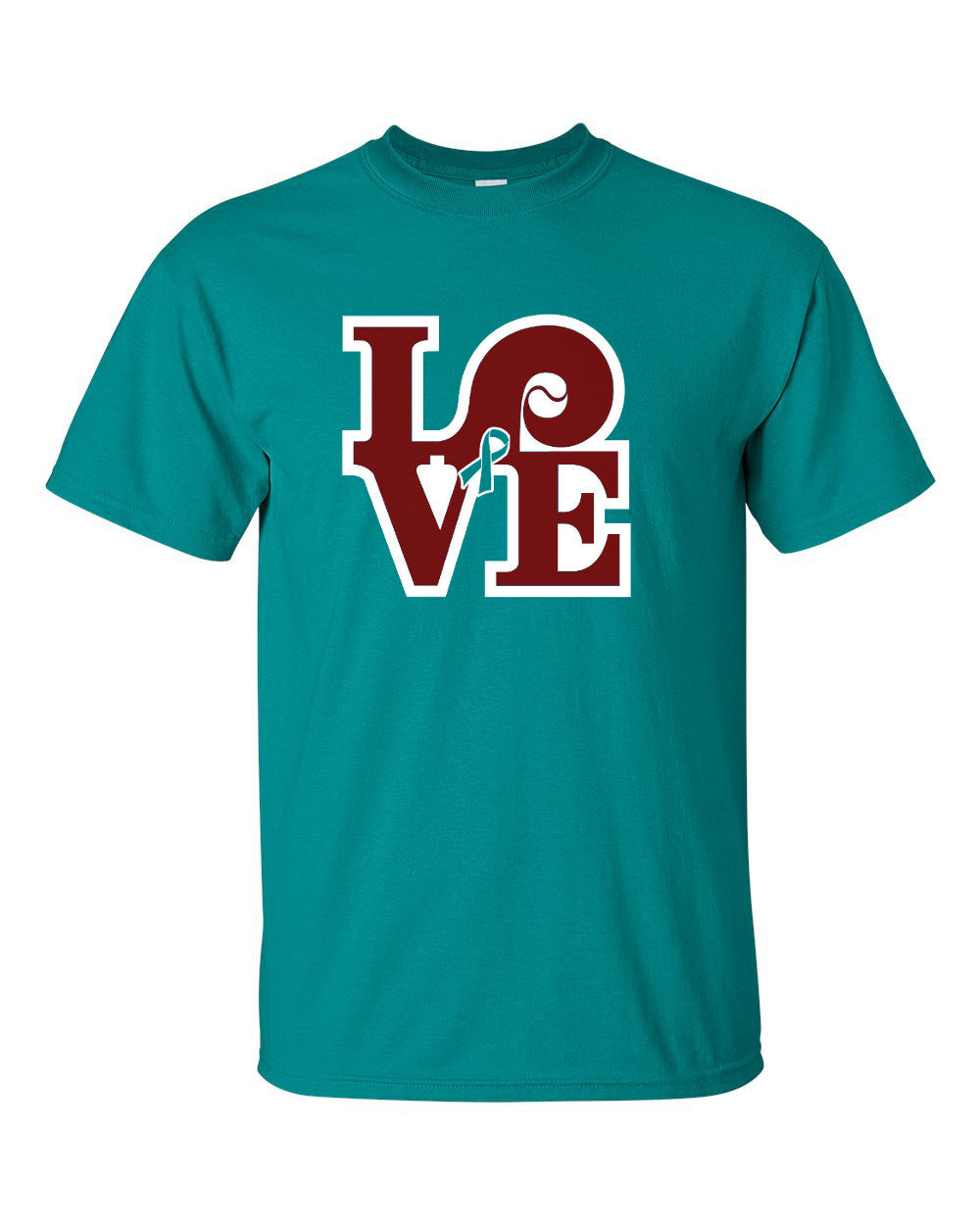 Love Baseball Mens S/S (Sandy Rollman Ovarian Cancer Foundation)