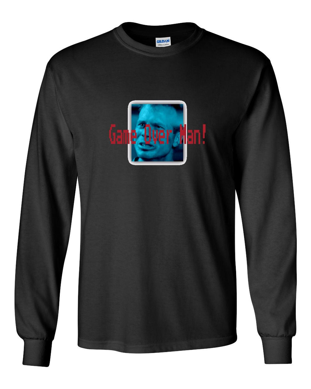 Game Over MENS Long Sleeve Heavy Cotton T-Shirt