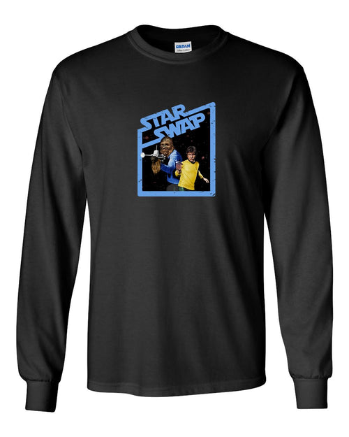 Star Swap MENS Long Sleeve Heavy Cotton T-Shirt
