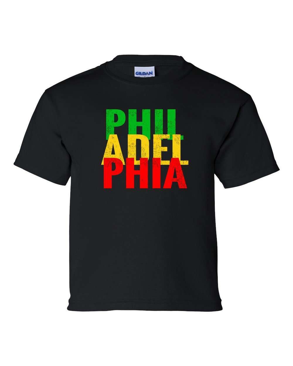 Rasta Philly Letters KIDS T-Shirt