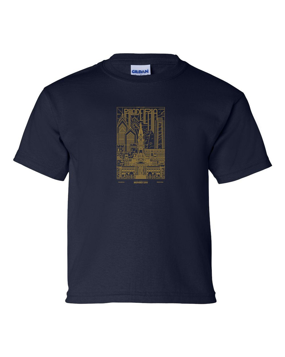 Philadelphia Skyline V2 (Soccer) KIDS T-Shirt