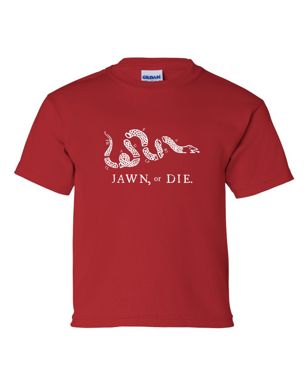 Jawn or Die White Ink (Baseball) KIDS T-Shirt