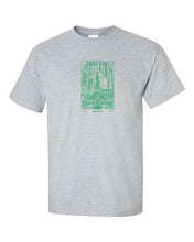 Philadelphia Skyline V2 (Green Ink) Mens/Unisex T-Shirt