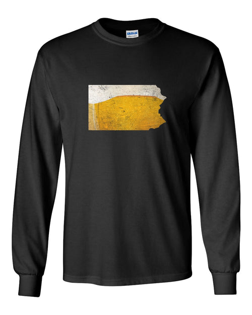 PA Beer MENS Long Sleeve Heavy Cotton T-Shirt