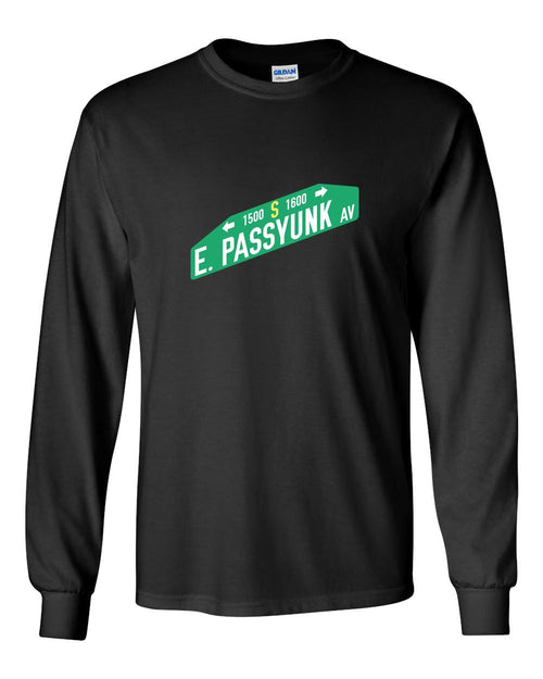 East Passyunk MENS Long Sleeve Heavy Cotton T-Shirt