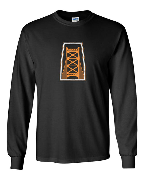 Ben Franklin Bridge Hockey MENS Long Sleeve Heavy Cotton T-Shirt