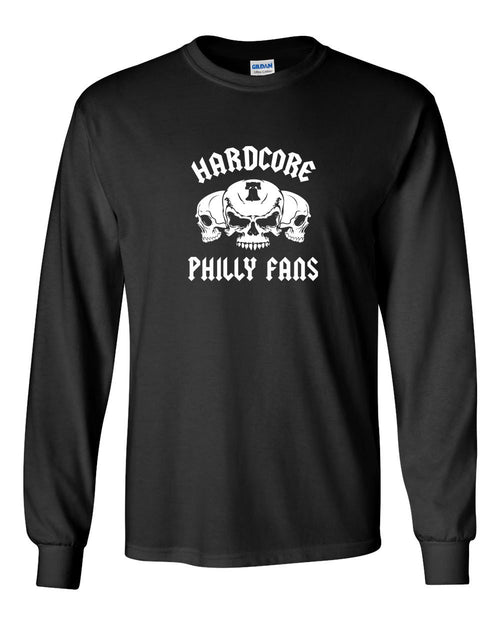 Hardcore Philly Fans MENS Long Sleeve Heavy Cotton T-Shirt