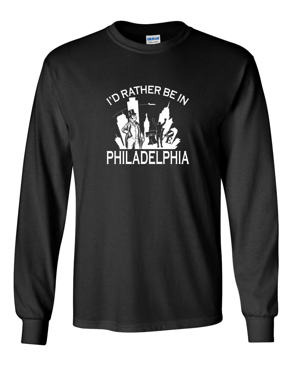 I'd Rather Be In Philly MENS Long Sleeve Heavy Cotton T-Shirt