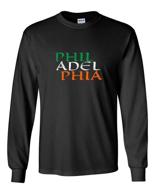 Irish Philadelphia MENS Long Sleeve Heavy Cotton T-Shirt