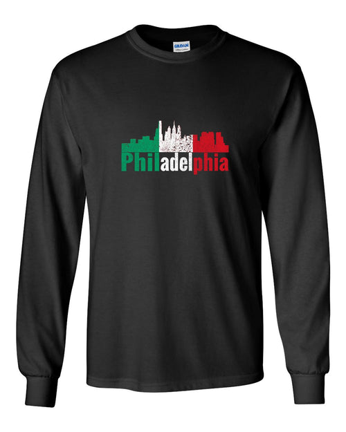 Italian Philly MENS Long Sleeve Heavy Cotton T-Shirt