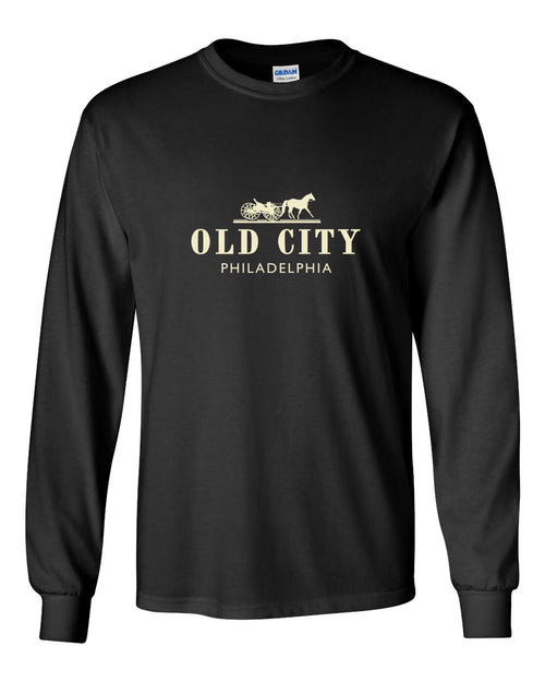 Old City MENS Long Sleeve Heavy Cotton T-Shirt