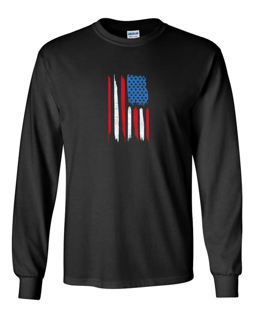 Philly City Flag MENS Long Sleeve Heavy Cotton T-Shirt