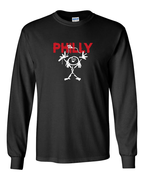 Philly PJ MENS Long Sleeve Heavy Cotton T-Shirt