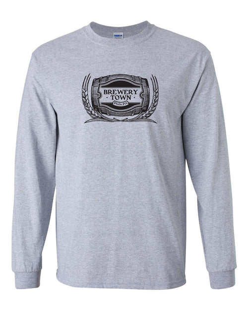 Brewerytown MENS Long Sleeve Heavy Cotton T-Shirt