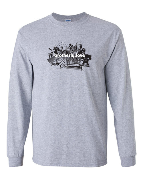 Brotherly Love V1 MENS Long Sleeve Heavy Cotton T-Shirt