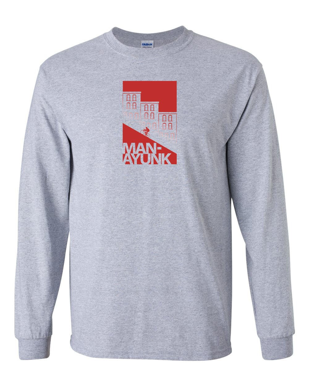 Manayunk MENS Long Sleeve Heavy Cotton T-Shirt