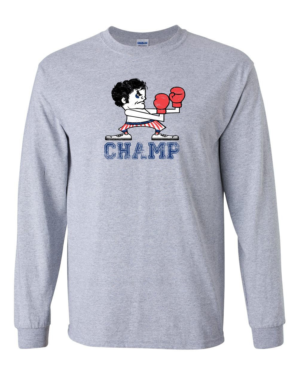Champ MENS Long Sleeve Heavy Cotton T-Shirt