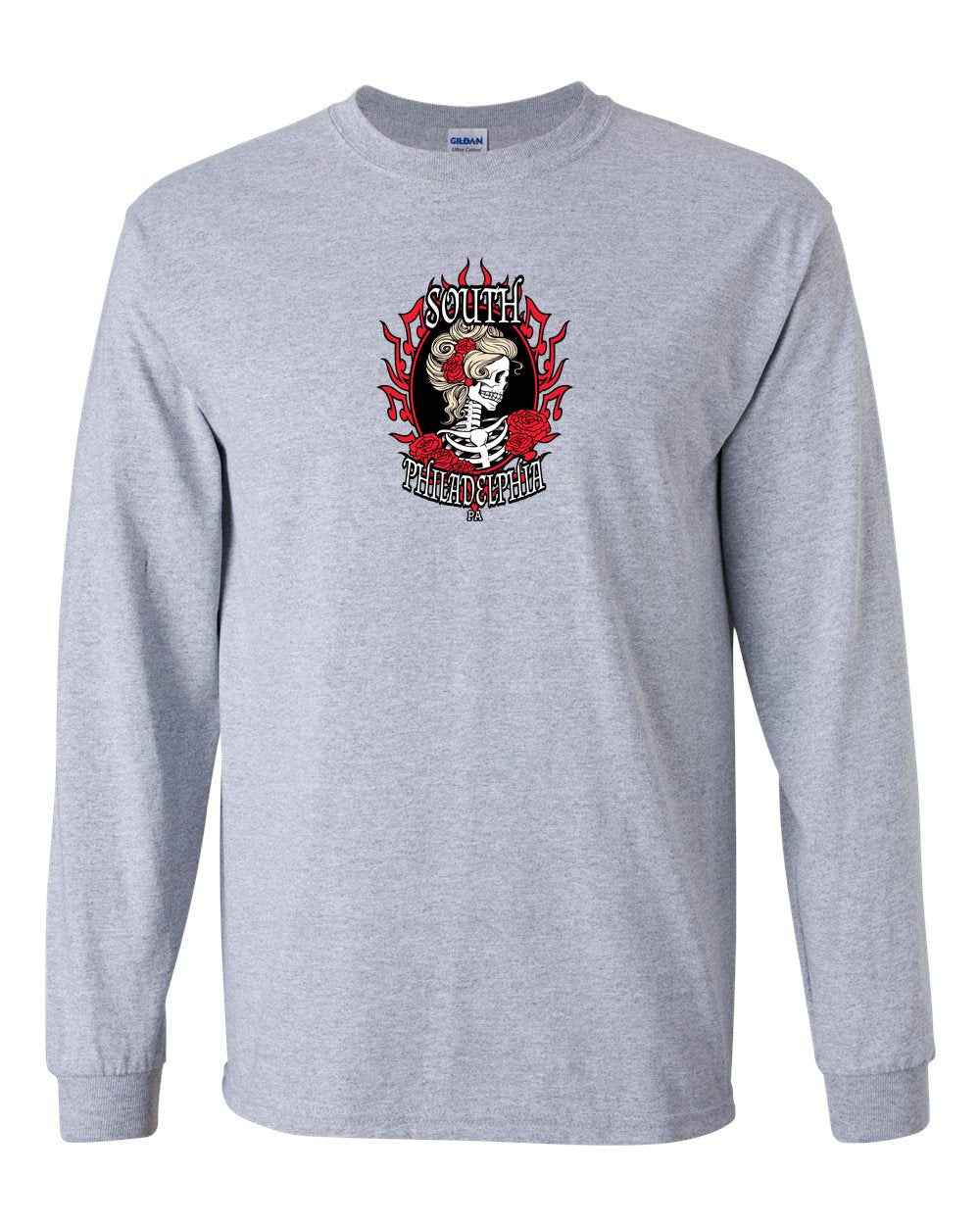 South Philly Dead MENS Long Sleeve Heavy Cotton T-Shirt